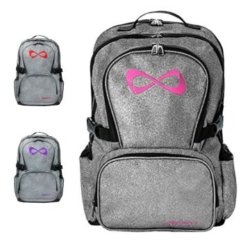 Nfinity Grey Sparkle Backpack
